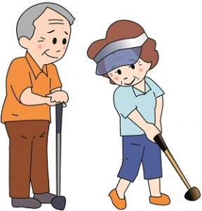 パークゴルフ中高年